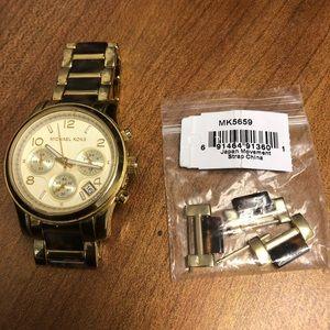 Michael Kors Parker Chronograph Gold and Turtoise